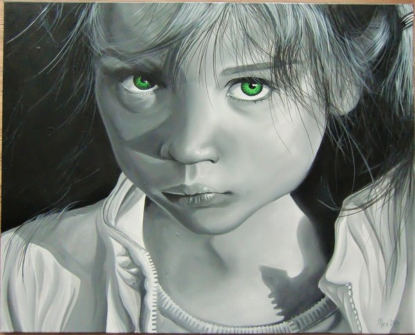"Bart Pikon ""Green Eyed Girl"" 80x100cm"
