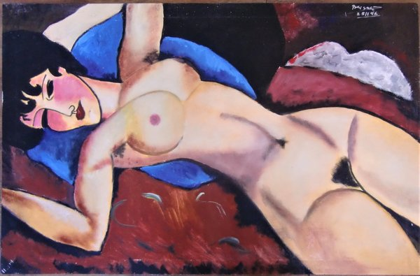 Amadeo Modigliani Homage Akt 1996 67 x 104cm